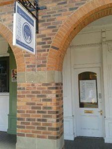 Balance Studio doorway on Paxtons Court