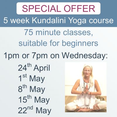 Kundalini Yoga 5 week Newark 24-4-19