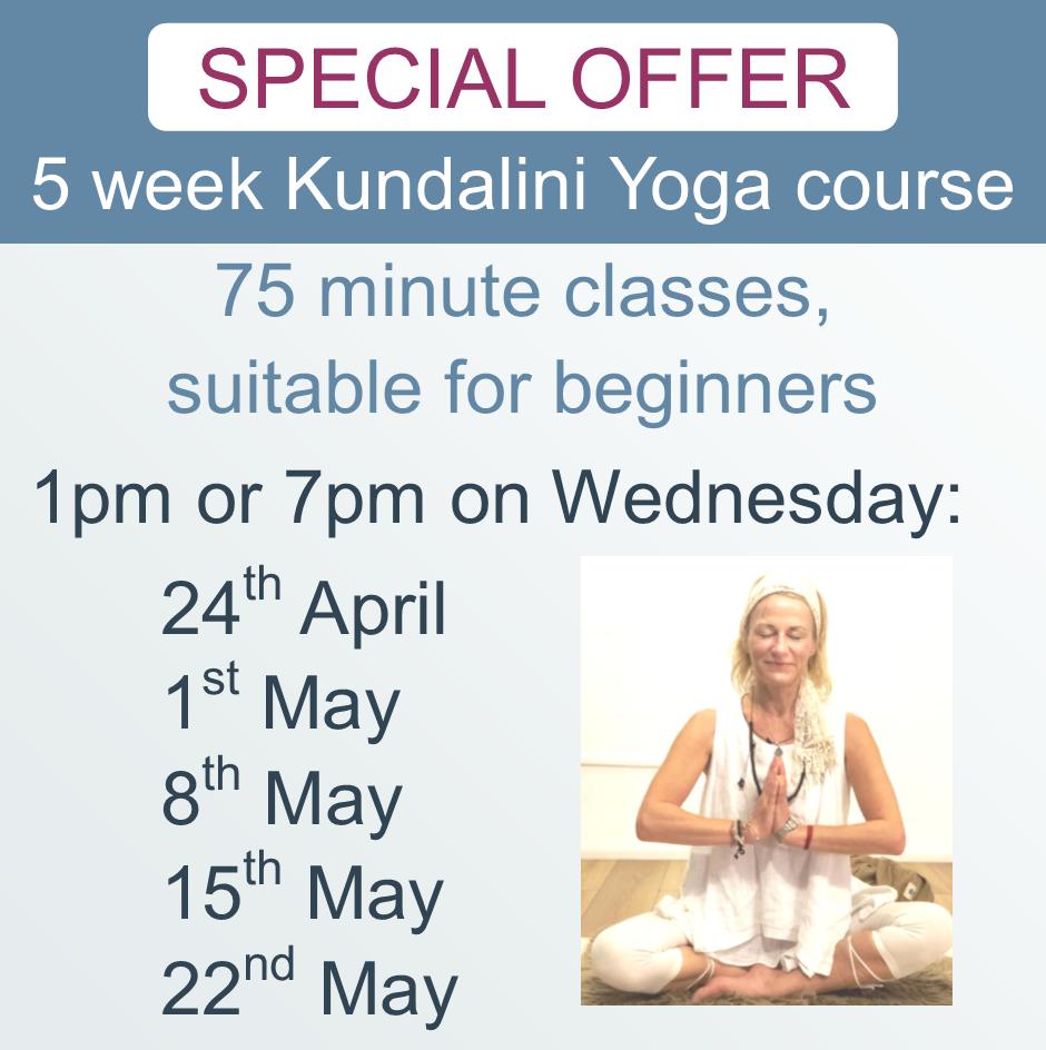 Kundalini Yoga 5 week Newark 24-4-19