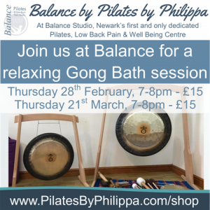 Gong bath Feb and march