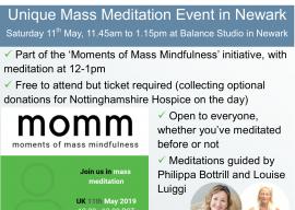 Free Unique Mass Meditation event in Newark
