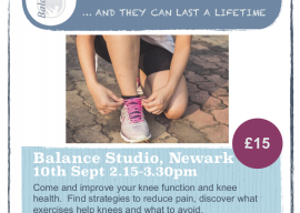 Look after your Knees…. and they can last a lifetime